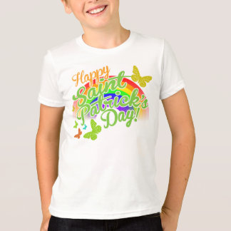 Camiseta O dia feliz tradicional de Patrick de santo