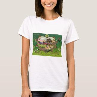 Camiseta O dia retro de St Patrick do irlandês do vintage