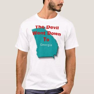 Camiseta O diabo foi para baixo a Geórgia