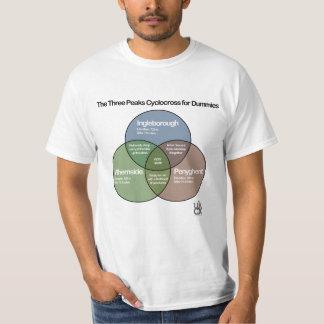 Camiseta O diagrama do venn de Cyclocross de três picos