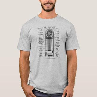 Camiseta O diagrama do vintage do kitsch faz uma bomba
