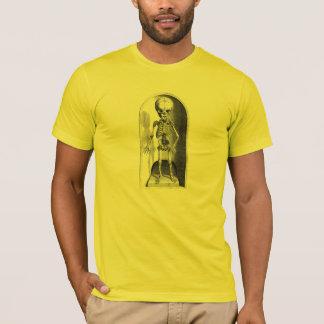Camiseta O dianteiro de esqueleto da criança e traseiro
