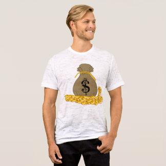 Camiseta O dinheiro ensaca o ouro