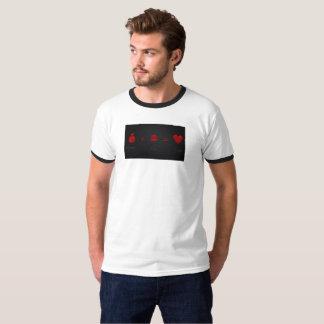 Camiseta O dinheiro mais a luxúria iguala a campainha T dos