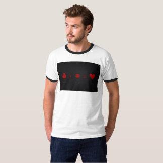 Camiseta O dinheiro mais a luxúria iguala o T dos homens do