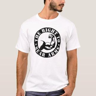 Camiseta o direito de carregar os braços