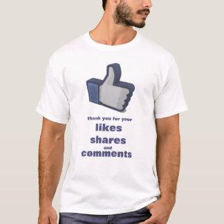 """Camiseta O divertimento """"gosta"""" do t-shirt"""