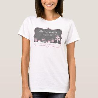 Camiseta O doce trata o negócio da padaria do quadro