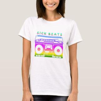 Camiseta O doente bate os anos 80 estereofónicos