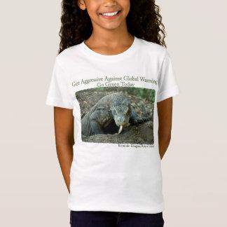 Camiseta O dragão de Komodo obtem o TShirt agressivo