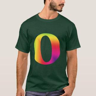 Camiseta O e/ou nota musical inteira representados