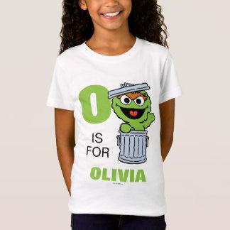 Camiseta O é para Oscar que o Grouch | adiciona seu nome