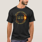 Camiseta O eclipse solar total 8.21.2017 EUA adiciona seu