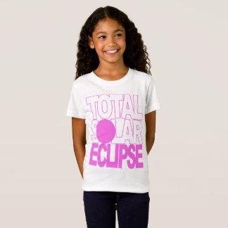 Camiseta O eclipse solar total caçoa a série cor-de-rosa