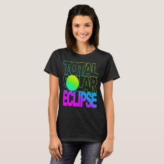 Camiseta O eclipse solar total caçoa a série de Trop