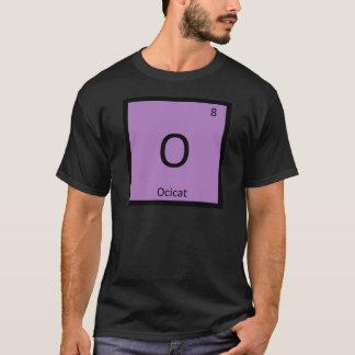 Camiseta O - Elemento de mesa periódica da química do gato