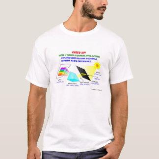 Camiseta O elogio acima, lá é sempre um arco-íris após uma