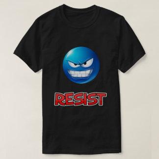 Camiseta o emoji azul, resiste