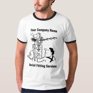Camiseta O encaixe aéreo presta serviços de manutenção ao