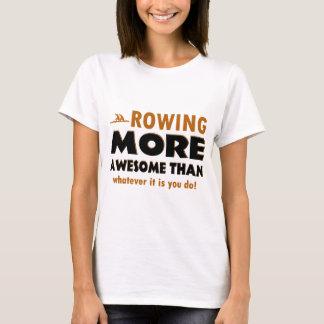 Camiseta O enfileiramento ostenta o design