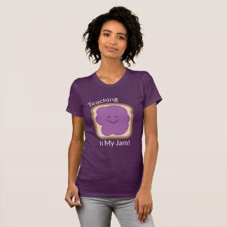 Camiseta O ensino é o t-shirt roxo das minhas mulheres do