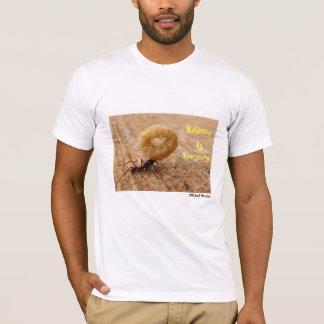 Camiseta O equilíbrio é tudo t-shirt do desenhista