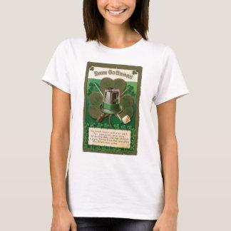 Camiseta O erin do trevo do dia de VintageSaint Patrick vai