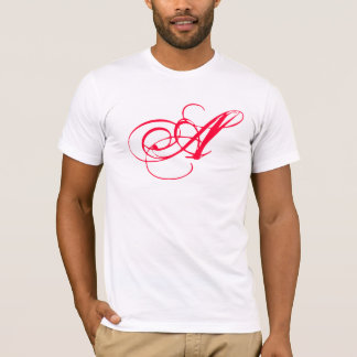Camiseta O escarlate de letra