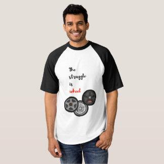 Camiseta O esforço é roda - t-shirt