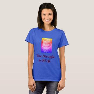 """Camiseta """"O esforço é"""" t-shirt tentador REAL do cupcake"""