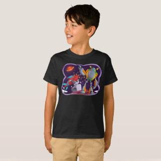 Camiseta O espaço galáctico do universo dos robôs de espaço