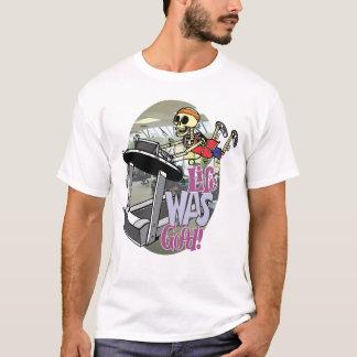 Camiseta O esqueleto em uma escada rolante em a vida era