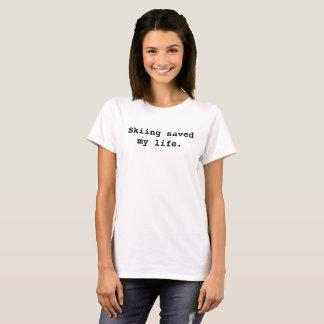 Camiseta O esqui salvar minha vida
