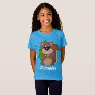 Camiseta O esquilo bonito adiciona o t-shirt conhecido dos