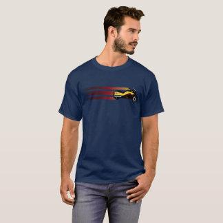 """Camiseta O estilo retro dos """"passos"""" dos homens Poder-Está"""