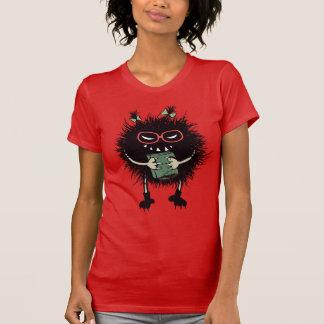 Camiseta O estudante mau do inseto do nerd ama ler