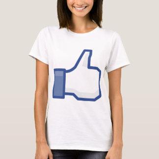 Camiseta o facebook GOSTA de me de manusear acima!