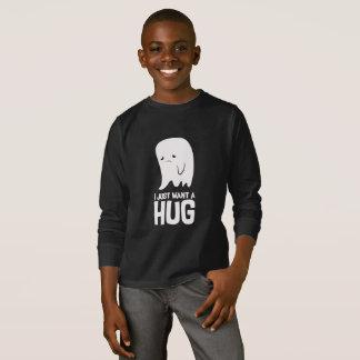 Camiseta O fantasma triste bonito apenas quer um abraço