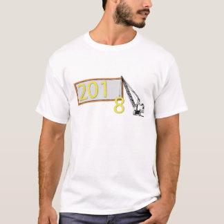 Camiseta O feliz ano novo t-shirt de 2018 homens da véspera