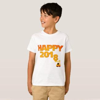 Camiseta O feliz ano novo t-shirt do miúdo de 2018 vésperas