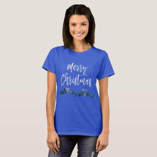Camiseta O Feliz Natal entrega festão indicada por letras