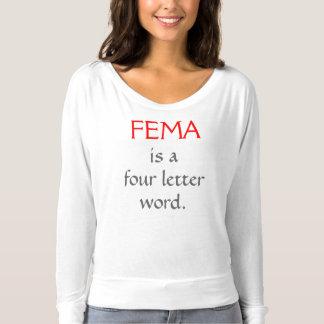 Camiseta O FEMA é uma palavra de quatro letras