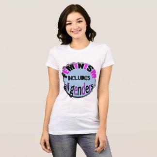 Camiseta O feminismo inclui todos os géneros