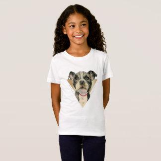Camiseta O filhote de cachorro Eyes a aguarela que pinta 4