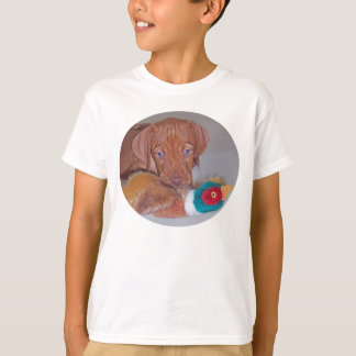 Camiseta O filhote de cachorro o mais bonito de Vizsla com
