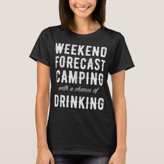 Camiseta O fim de semana previu o acampamento com uma