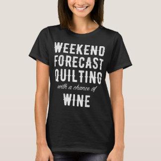 Camiseta O fim de semana previu o acolchoado com uma