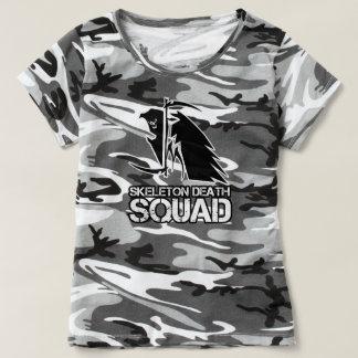 Camiseta O FMSDS Camo cinzento T das mulheres