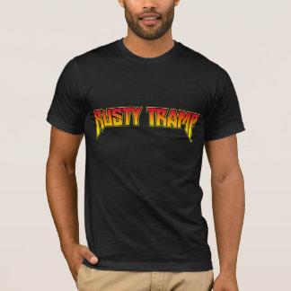 Camiseta O fogo retro do t-shirt | da caminhada oxidada