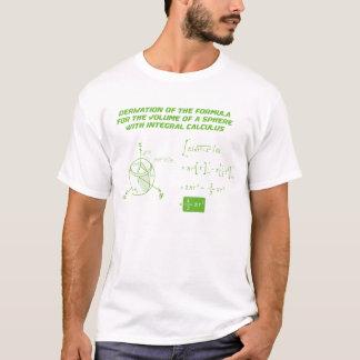 Camiseta O fomula do volume de um sphare